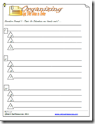 Writing Journal Organizing Your Thinking