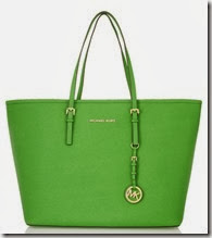 Michael Michael Kors Green Jet Set Medium Tote