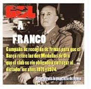 CAMPAA RETIRAR MEDALLAS FRANCO