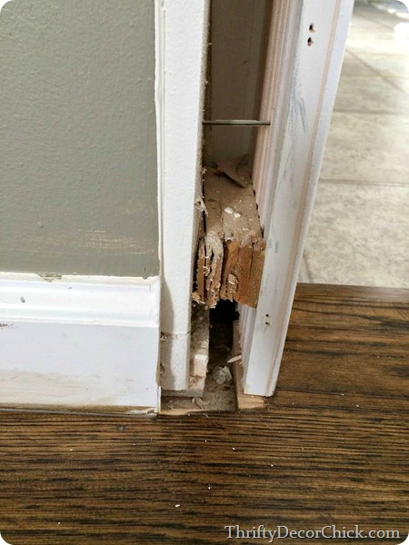 removing door trim