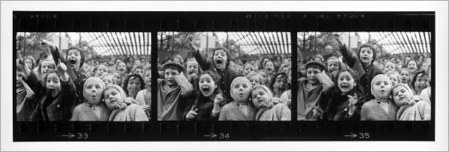 Three Frames of Children at Puppet Theater, Paris, 1963