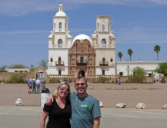 Bill and Kim at San Xavier