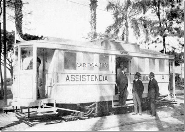 Bonde assistência, era usado como ambulância no inicio do século XX.