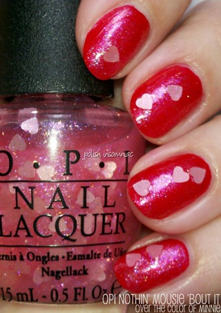 OPI Nothin' Mousie 'Bout It over The Color of Minnie (Minnie Mouse collecion)