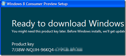 Product key Windows 8
