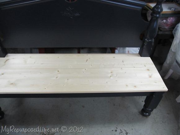 bench seat made with Kreg Jig