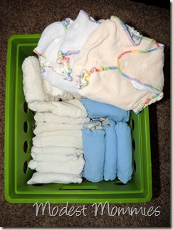 Cloth Diapering - Night Fitteds Container