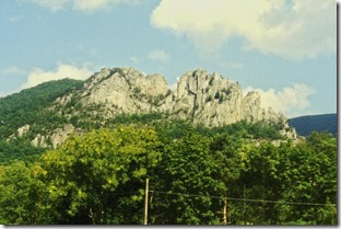 Seneca Rocks peaks in Pendleton County, WV