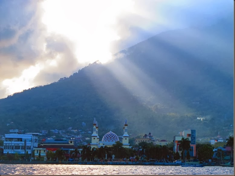 view of ternate from the water