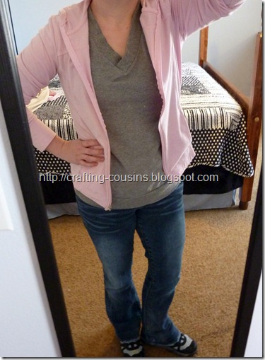 refashion a sweater to a cardigan (7.5)