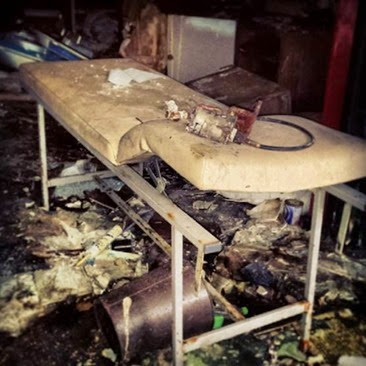 Abandoned Hartwood Hospital Bed