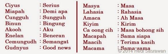 bahasa alay