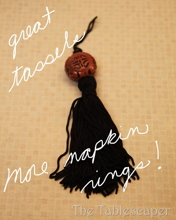 tassel with words