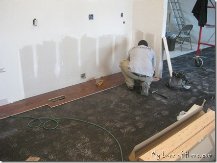 Laying hardwood floor