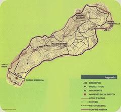 grotta di santa ninfa map