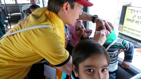 Vaccinating on Bus