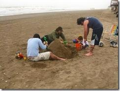 A pesar del mal clima se pudo disfrutar de la playa