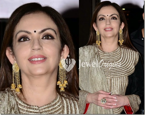 Nita_Ambani_Gold_Earrings