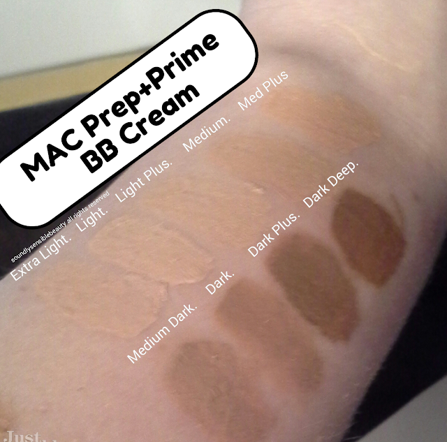 Mac Prep + Prime BB Cream Beauty Balm, SPF 35 Review & Swatches of Shades Extra Light, Light, Light Plus, Medium, Medium Plus, Medium Dark, Dark, Dark Plus, Dark Deep