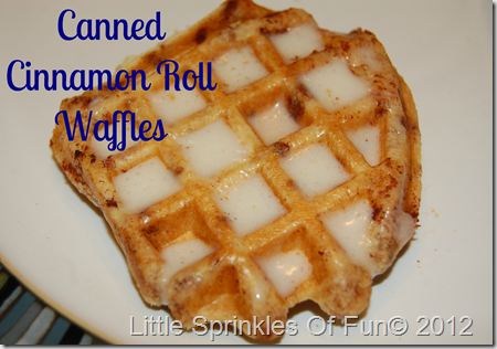 Cinnamon roll waffles