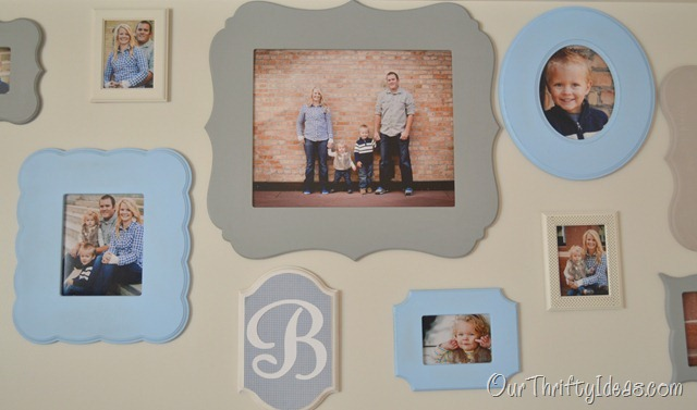 Our Thrifty Ideas: Shaped Frames in a Family Photo Collage