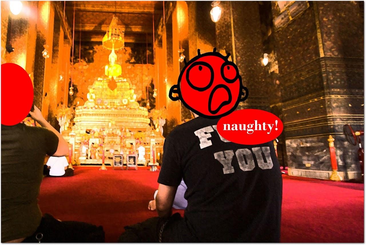 Stupid Thai tourist