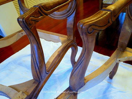 French Chair arms