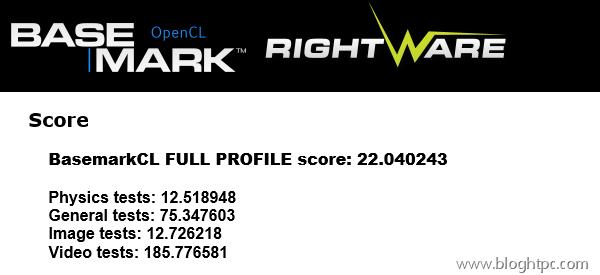 BaseMark OpenCL AMD ATHLON 5350