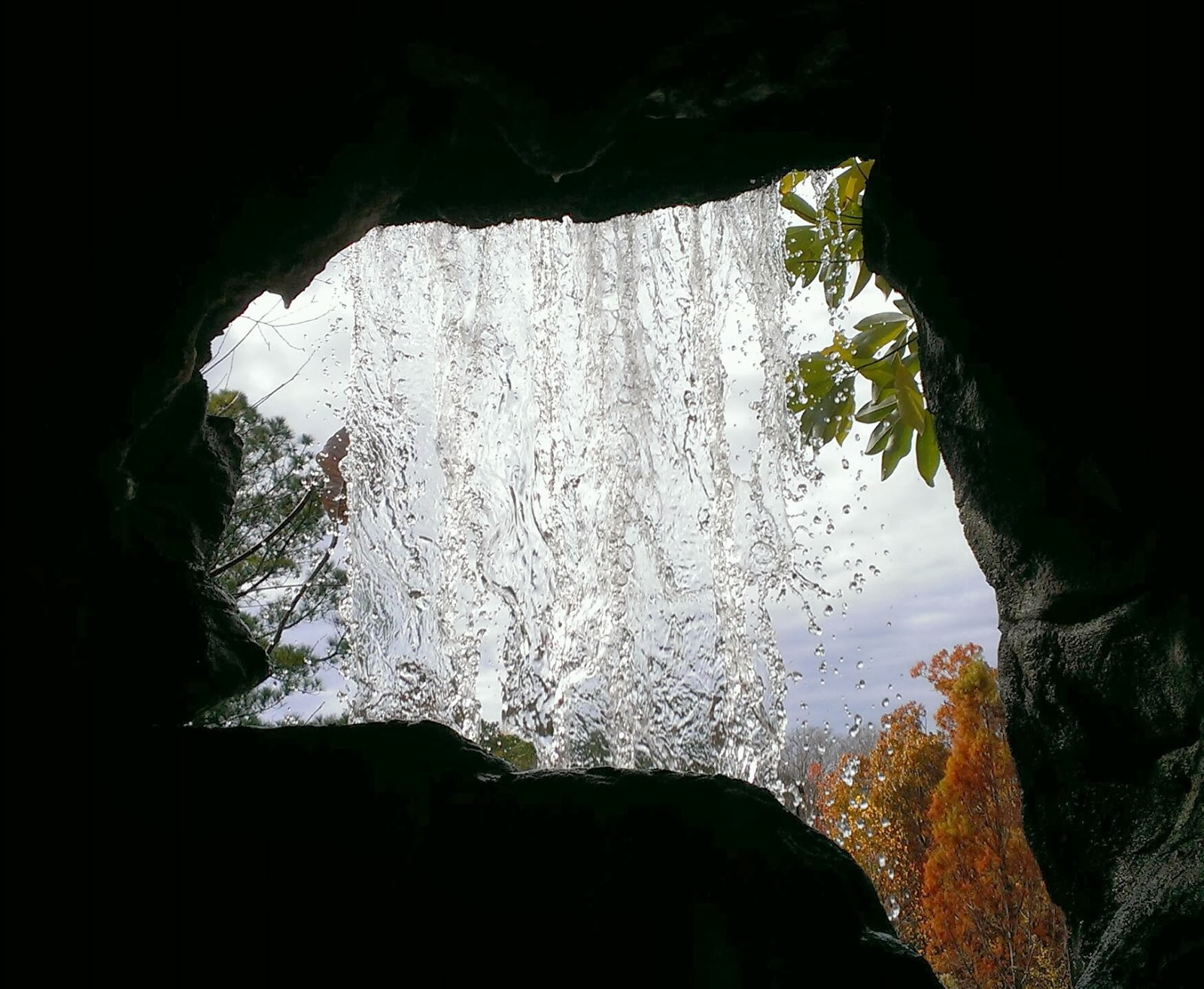 Behind the Falls