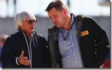 Bernie Ecclestone con Paul Hembery