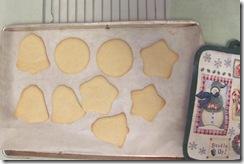 sugar cookies baked bells circles stars