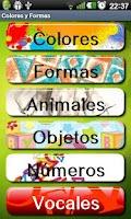 Screenshot of Aprende formas y colores niños
