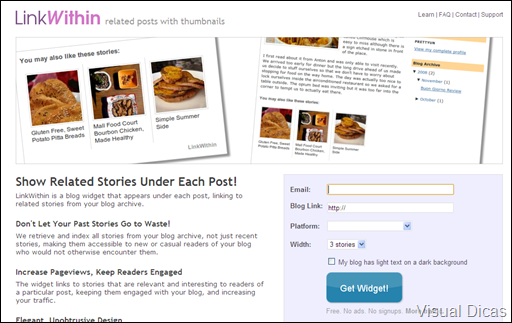 Como inserir uma lista de links relacionados no seu Blogger - Visual Dicas