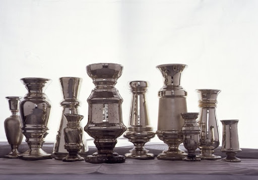 Of many mercury-glass forms, the vase is the most common. (Martha Stewart Living)