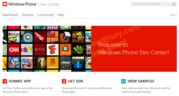 Windows Phone Dev Center New Look