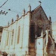 O Templo, antes da tempestade que danificou sua fachada.