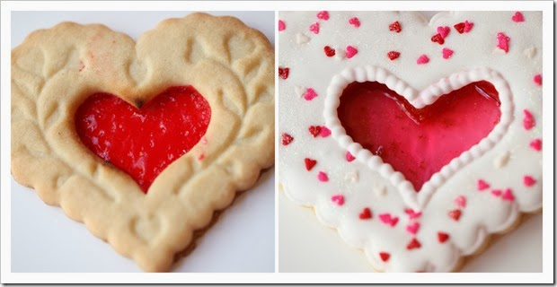 Glass Heart Cookies