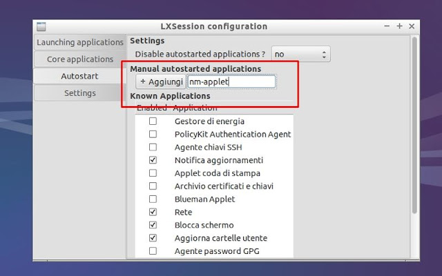 Lubuntu 14.04 - Apple Network Manager Avvio