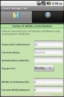 Screenshot of Savings Calculator