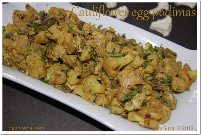 Cauliflower egg podimas
