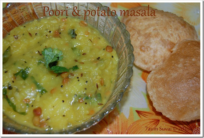 Poori and Potato masala