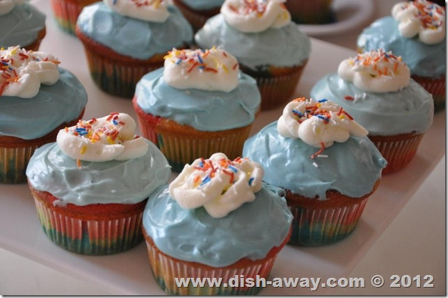 Rainbow Cupcakes Recipe by www.dish-away.com