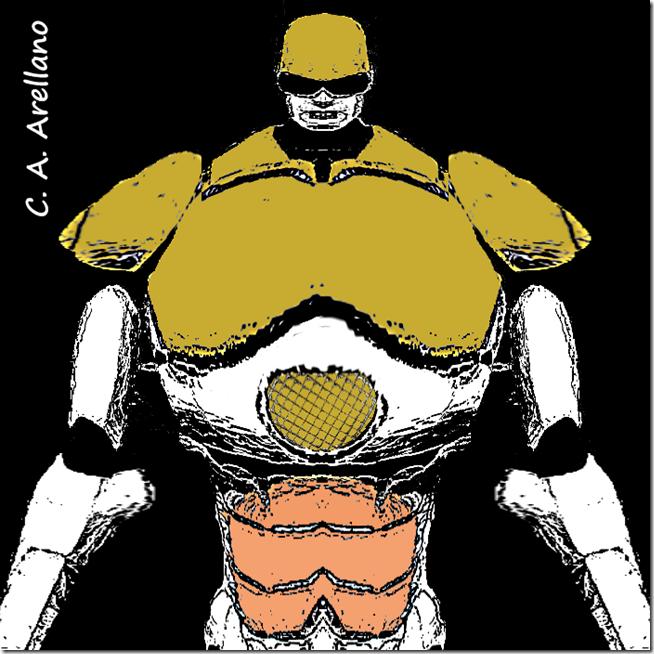 Robot pensando Herón, ¡qué tipo!, de Carlos Alberto Arellano