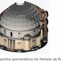 47 - Perspectiva axionometrica del Panteon de Agripa