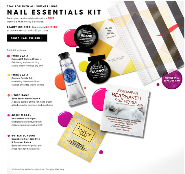 Free Sephora Nails Kit
