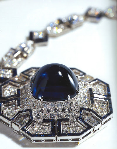 Isn't this sapphire and diamond piece just stunning? (photo, Elizabeth Taylor:My Love Affair With Jewelry)