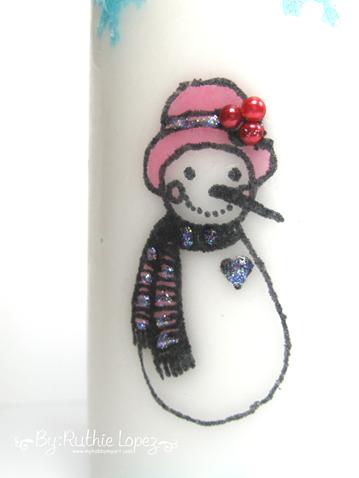 Color Paws - Navidad -Vela decorada - Ruthie Lopez 2