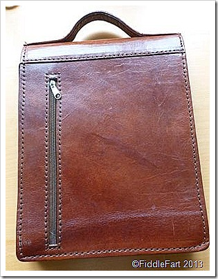 intage leather document case