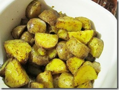 roasted potatoes with turmeric and chili, 240baon