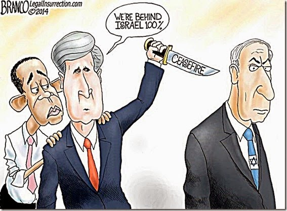 BHO-Kerry stab Netanyahu in back over Ceasefire